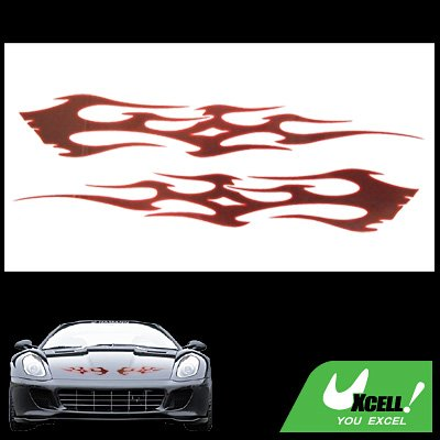Red Fire Auto Motor Decal Car / Truck Window Sticker