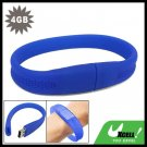 4GB Bracelet USB Drive Flash Memory Stick Blue