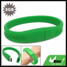 8GB Green Bracelet Wrist Band USB Drive Flash Memory Stick