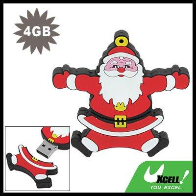 USB 2.0 4GB Jumping Santa Claus Drive Flash Memory Stick
