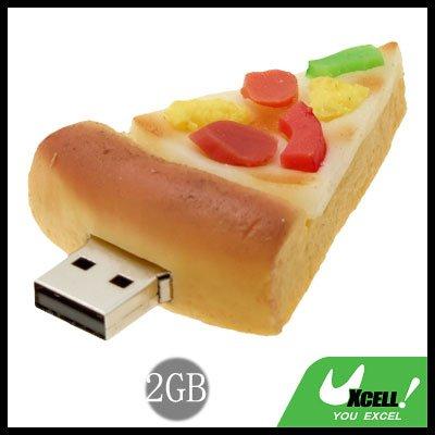 Cool-Look Pizza USB2.0 2GB Flash Memory Stick Drive