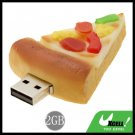 Cool-Look Pizza USB2.0 2GB Flash Memory Stick Drive