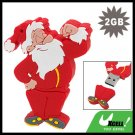 2GB USB 2.0 Sporty Santa Claus Flash Memory Drive Stick