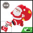 Santa Claus Carrying Bag 8GB USB 2.0 Flash Drive Memory Stick