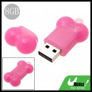 Mini 8GB Pink Bone USB 2.0 Flash Pen Drive Memory Stick