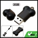 Black Bone 2GB USB 2.0 Flash Pen Drive Memory Stick