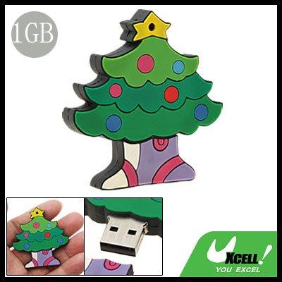 1GB Christmas Tree USB Flash Memory Drive Stick Storage