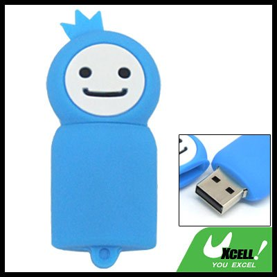 Blue Moppet 2GB USB 2.0 Flash Memory Drive Pen Stick