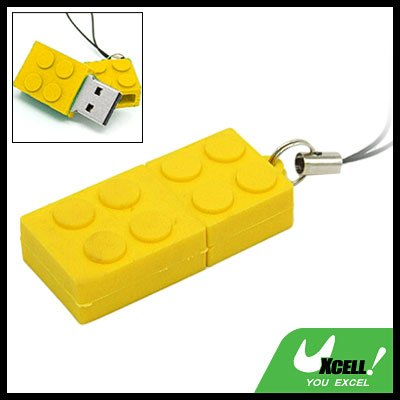 Brick 2GB Mini USB Flash Memory Stick Drive w/ Phone Strap