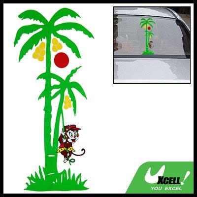 Decorative Coconut Tree Monkey Logo Car Decal Sticker