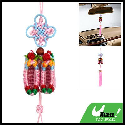 Big Chinese Knot Embroidery Oriental Ornament Shoes Pendant