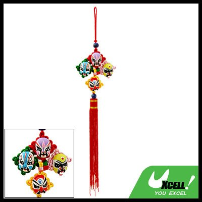 Embroidery Chinese Knot Oriental Ornament Mask