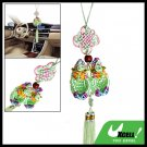 Decoration Handmade Oriental Ornament Chinese Good Luck Knot Green