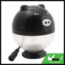 Car USB Oxygen Ion Air Freshener Purifier Filter  Black Pig