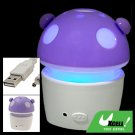Violet Fanning Scent Mushroom Car Indoor Air Purifier Refresher