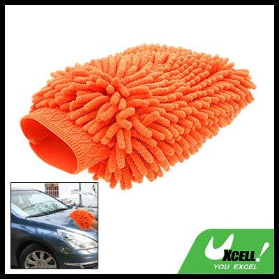 Orange Microfiber Car Washing Cleaning Glove Wash Mitt