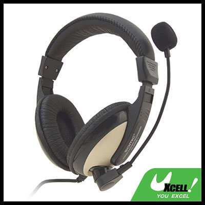 Stereo PC Computer Headset VoIP Skype Headphone Microphone