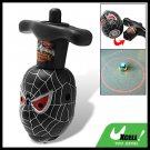 Funny Electronic Colorful Flashing Light Black Spider Peg-Top Toy