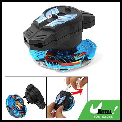 Gear Strip Control Swirl Fighter Children's Peg-Top Toy Blue Black