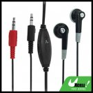 3.5mm Volume Adjustable PC On Line Chat Microphone Earphone Headphones