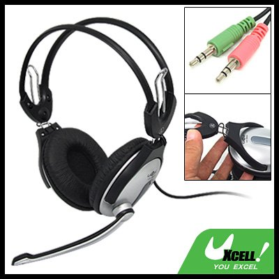 Multimedia PC Laptop Computer Stereo Headphone Headset with Microphone