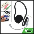 Slim PC Computer Stereo Headphone Headset Microphone