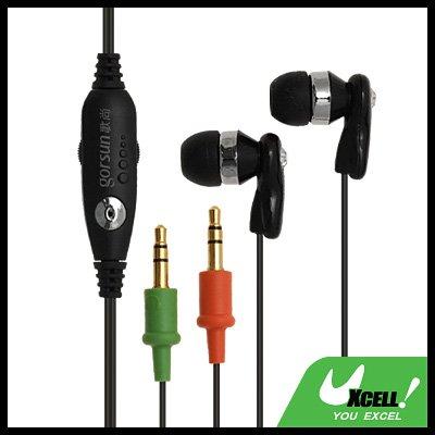 PC In Ear Headphone Headset Earphone w/ Microphone