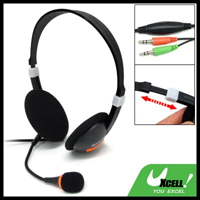 Computer PC Overhead Microphone Headphone Headset