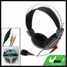 PC Computer Microphone Headset Headphone With Vol Control 3.5mm