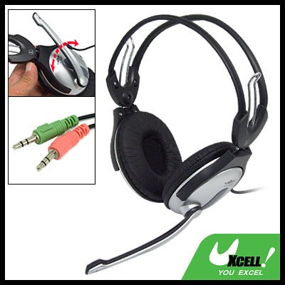 3.5mm Stereo Headphone with Mic for PC Computer Laptop