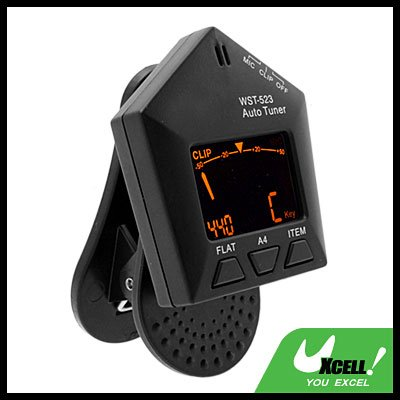 Music Instruments Clip Style Auto Violin Bass Guitar Tuner (WST-523)