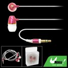 In-ear Rose Color 3.5mm Earphone for PC iPod MP4 MP3