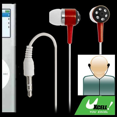 Rhinestone Decoration 3.5mm Earphone for iPod MP4 MP3 PC
