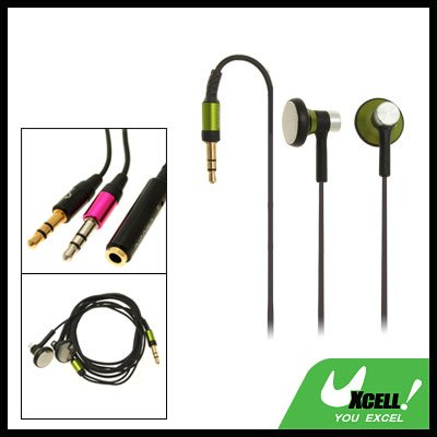 Stereo Earphone with 3.5mm Plug for MP3 MP4 Player PC