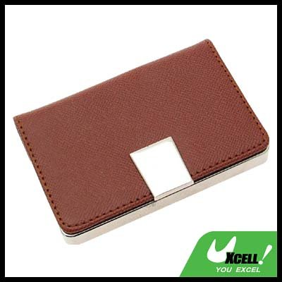 Brown Graceful Leather Business Card Holder Credit Card Case