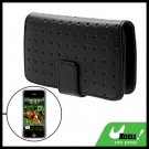 Black Punched Leather Case Pouch Wallet Business Card Holder for Apple iPhone 1st Generation