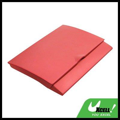 Red Slim Aluminum Business Card Case Holder