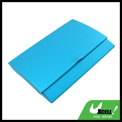 Blue Thin Aluminum Business Credit ID Card Case Holder