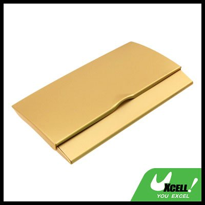 Golden Thin Aluminum Business Credit ID Card Case Holder