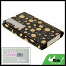 Black Exquisite Yellow Dots Design Business Card Case Holder