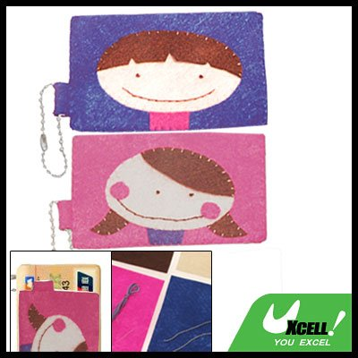 Elegant DIY Stitch Couple Business Bank Card Case Cover