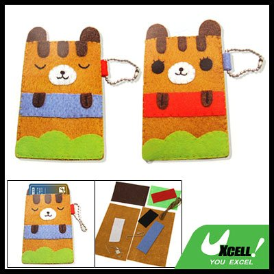 Manual Bear DIY Stitch Business Credit Card Case Cover