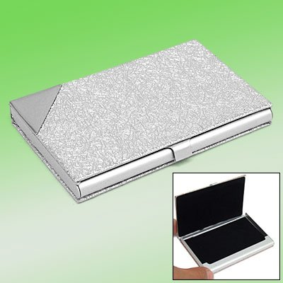 Silvery Aluminum Business Card Case w/anti-slip Surface