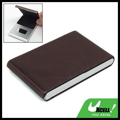 Vertical Leather Surface Magnetic Business Name Card Case