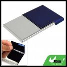 Blue Silvery Metal Stainless Steel Holder Case for Business ID Card