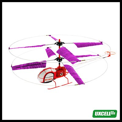 Toy - Super Remote Control Dual Rotors Helicopter Airplane - Red/Purple