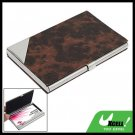 Soft Leather Metal Business Card Case Net Patterned
