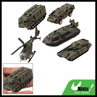 Mini Camouflage Army Force Helicopter Tank Armored Car Kid's Toy