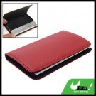 Red Leather Surface Magnetic Business Card Case