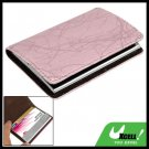 Stripe Textured Leather Surface Magnetic Business Card Case